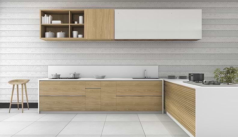 תמונת אוירה מטבח לבן ועץ1