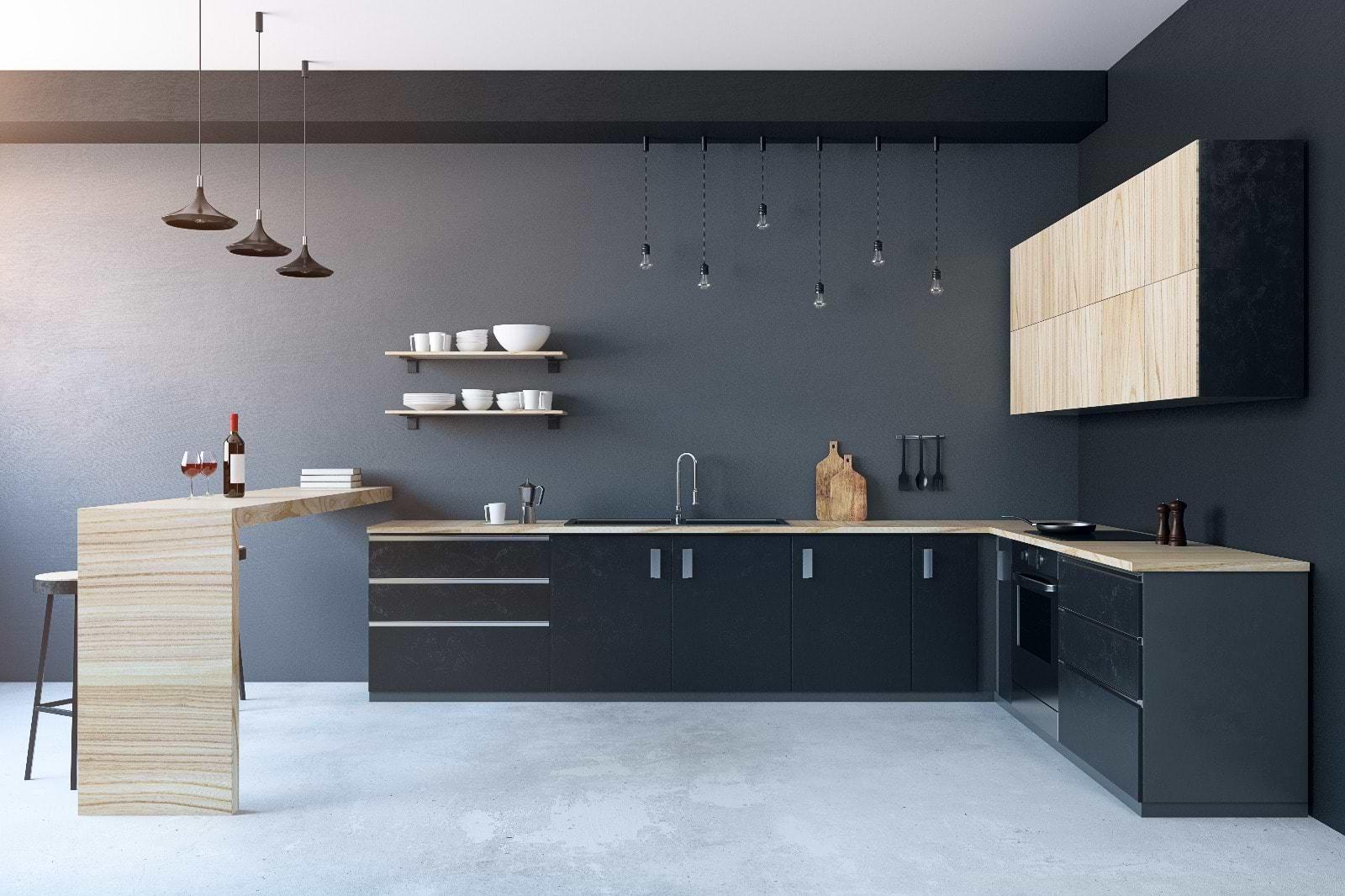 תמונת אוירה מטבח שחור